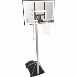 Spalding Basketball-Standanlage NBA Silver