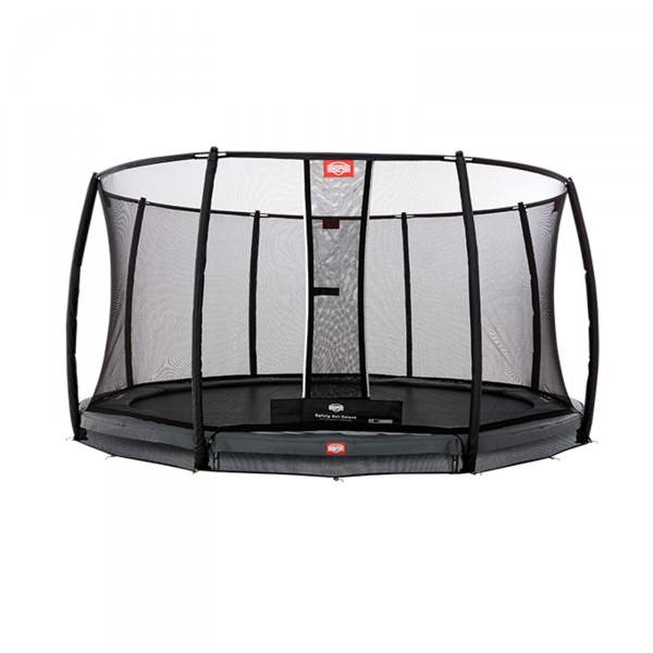 Berg InGround Trampolin Champion Grey 430 + Sicherheitsnetz Deluxe