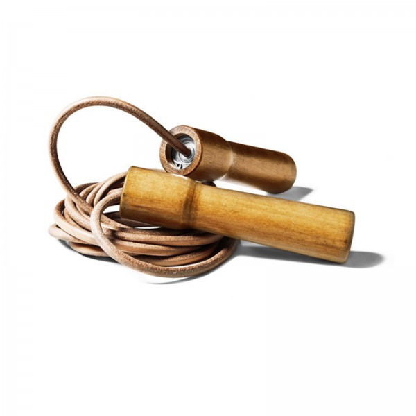 Excellerator Springseil Handle Wood, leather 285cm