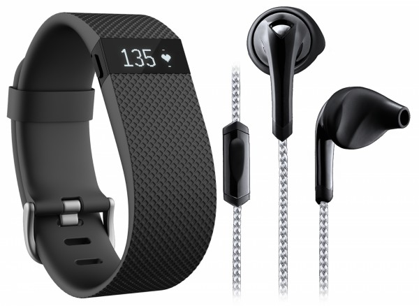 Fitbit Fitness Essential Pack (Fitbit Charge HR + Ohrhörer)