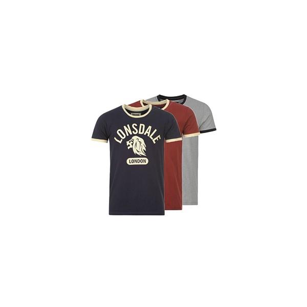 Lonsdale T-Shirt Mens Ringer Tee