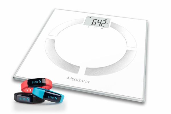 Medisana Körperfettwaage + Aktivitäts-Tracker Set