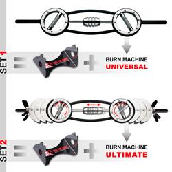Men's Health Burn Machine Ultim.-Langhantel-Set + Hantelst.
