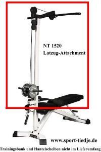 Nautilus NT 1520 Lat-Attachment für Nautilus Hantelbänke (silber)