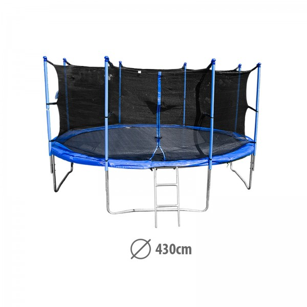 sport tiedje garten trampolin 430 cm kaufen test sport. Black Bedroom Furniture Sets. Home Design Ideas