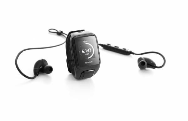 TomTom Runner 2 Cardio + Music GPS-Sportuhr inkl. BT Ohrhörer