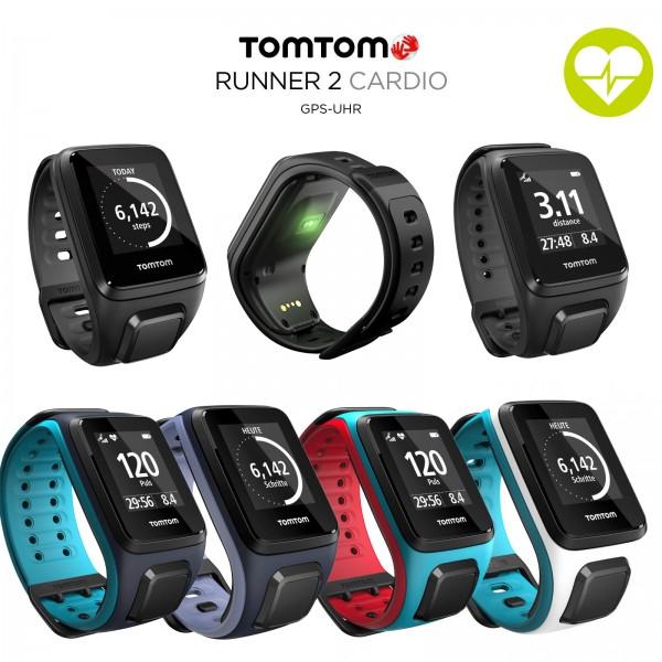 TomTom Runner 2 Cardio GPS-Sportuhr Größe S (121-175 mm)