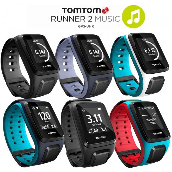 TomTom Runner 2 Music GPS-Sportuhr Größe S (121-175 mm)