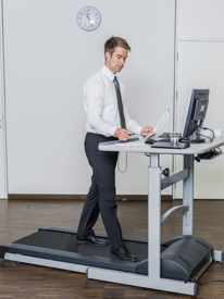 Bewegtes Büro - Laufbandschreibtisch